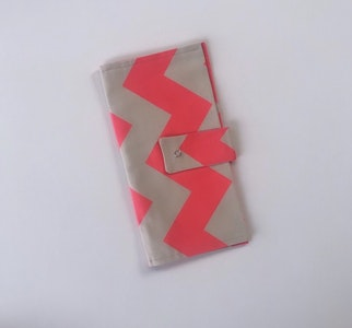 Pink Zigzag Handmade Nappy Wallet