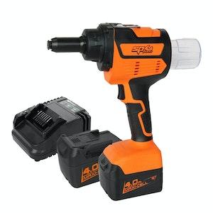 SP Tools 18v Brushless Industrial Riveter + Battery Charger