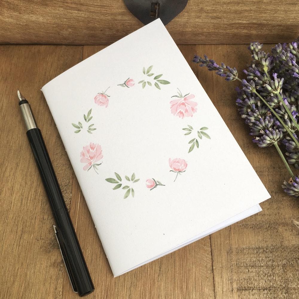 Bruce Bramfield Pink Peonies Eco Notebook