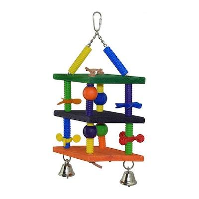 SuperBird Dizzy Diamonds Bird Toy for Medium & Large Birds 35.5 x 17.8cm