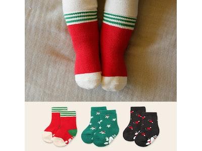 Christmas Socks Set - 3 pairs (0-24mths)