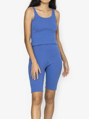Amber Rib Bike Shorts - Colony Blue