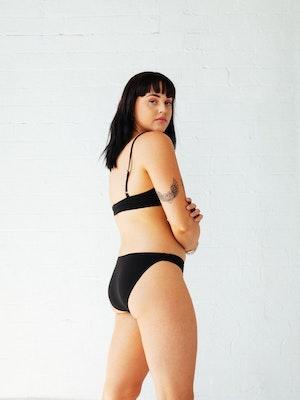 Palm Bikini Brief - Black