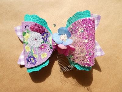 Crafty Little Munchkin Floral Flower Bow