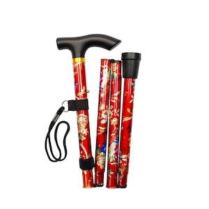 "Safe Home Care Folding Walking Stick 33-37"""