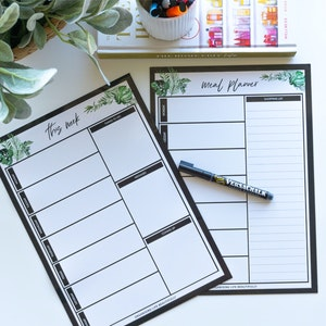 Magnet | Weekly Planner - Greenery Design (A4 Size)