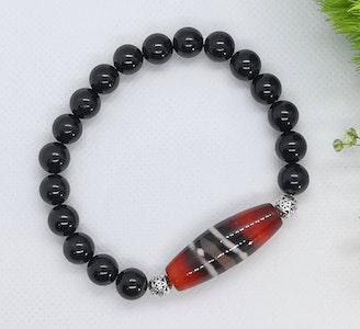 LinqGlo Collections Black Tourmaline Crystal Bracelet