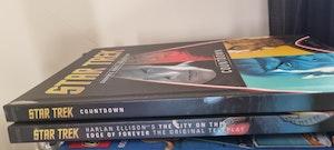 Star Trek ship and books