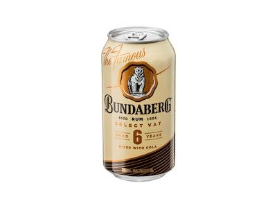Bundaberg Select Vat 6 Year Old Rum & Cola Can 375mL