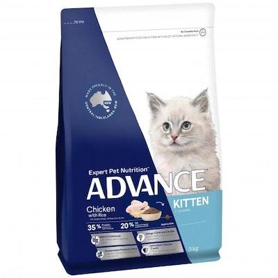 Advance Kitten Plus Chicken Dry Cat Food 3kg