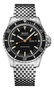 Mido Ocean Star Tribute - Stainless Steel - Interchangeable Stainless Steel Bracelet and Leather Strap