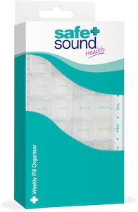 Safe + Sound Weekly Pill Organiser 4 Compartments
