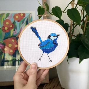 Splendid Fairy-wren Cross Stitch Kit