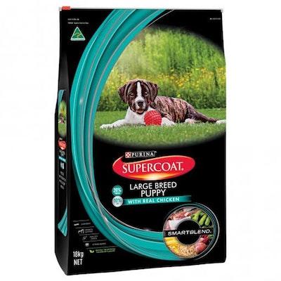 Supercoat Smartblend Large Breed Puppy Chicken Dry Dog Food 18kg