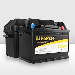 12V 100Ah Lithium LiFePO4 Battery & Battery Box