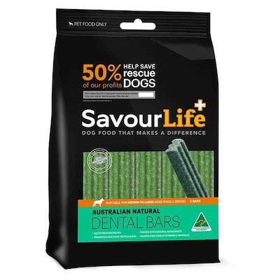 Savourlife Natural Dental Bars Dog Treats Large 5 Pack