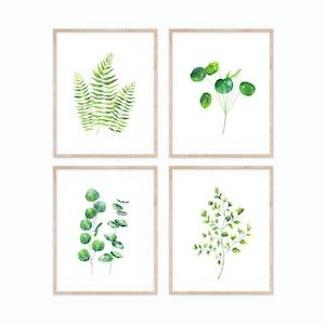 Leafy Green Set - Archival Prints