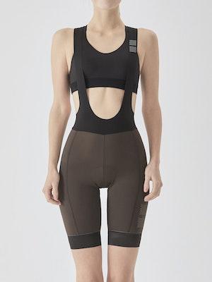 Soomom Women's Essential Cycling Bib Shorts - Brown