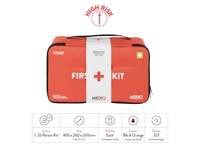 WH Safe Mediq Incident Ready First-Aid Kit - Soft Pack (High Risk)