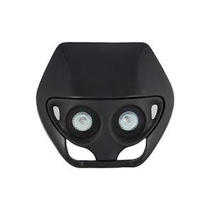 Dual Bulb Headlight - Black
