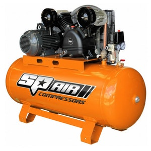 SP25 Air Compressor 200Lt 5.5hp 3 Phase Electric Twin Cast Iron V-Twin SP25