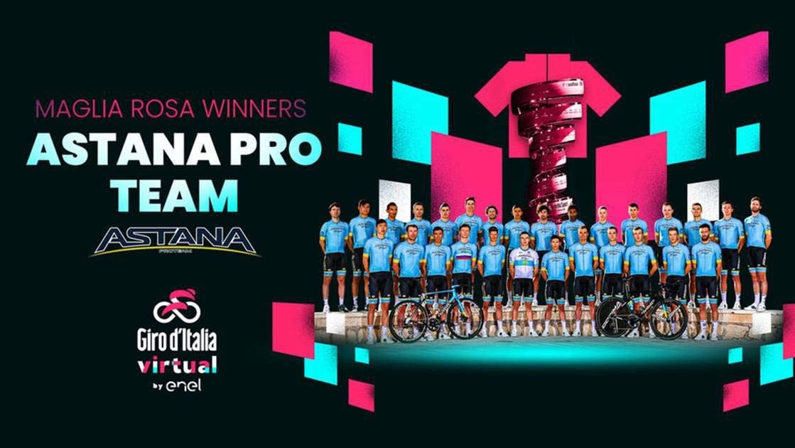 THE ASTANA PRO TEAM AND NORTHWAVE TOGETHER WIN THE FIRST EDITION OF THE 2020 VIRTUAL GIRO D'ITALIA