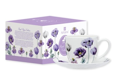 Ashdene: Purple Poppies Cup and Saucer