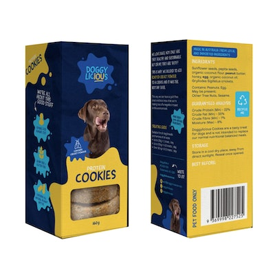 Doggylicious Protein Cookies Dogs Tasty Treats 160g