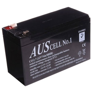 Neptune 12v - 7amp SLA maintenance free back up alarm or access control battery
