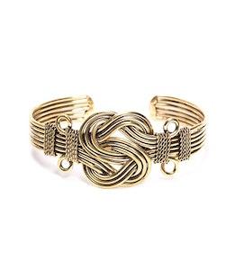 Global Sisters Shop Buddha Knot Cuff Gold