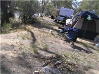 GSA Campaspe River bank office campsite