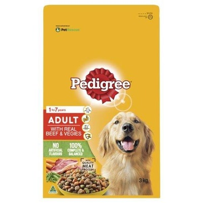 Pedigree Adult Beef & Veg 3kg