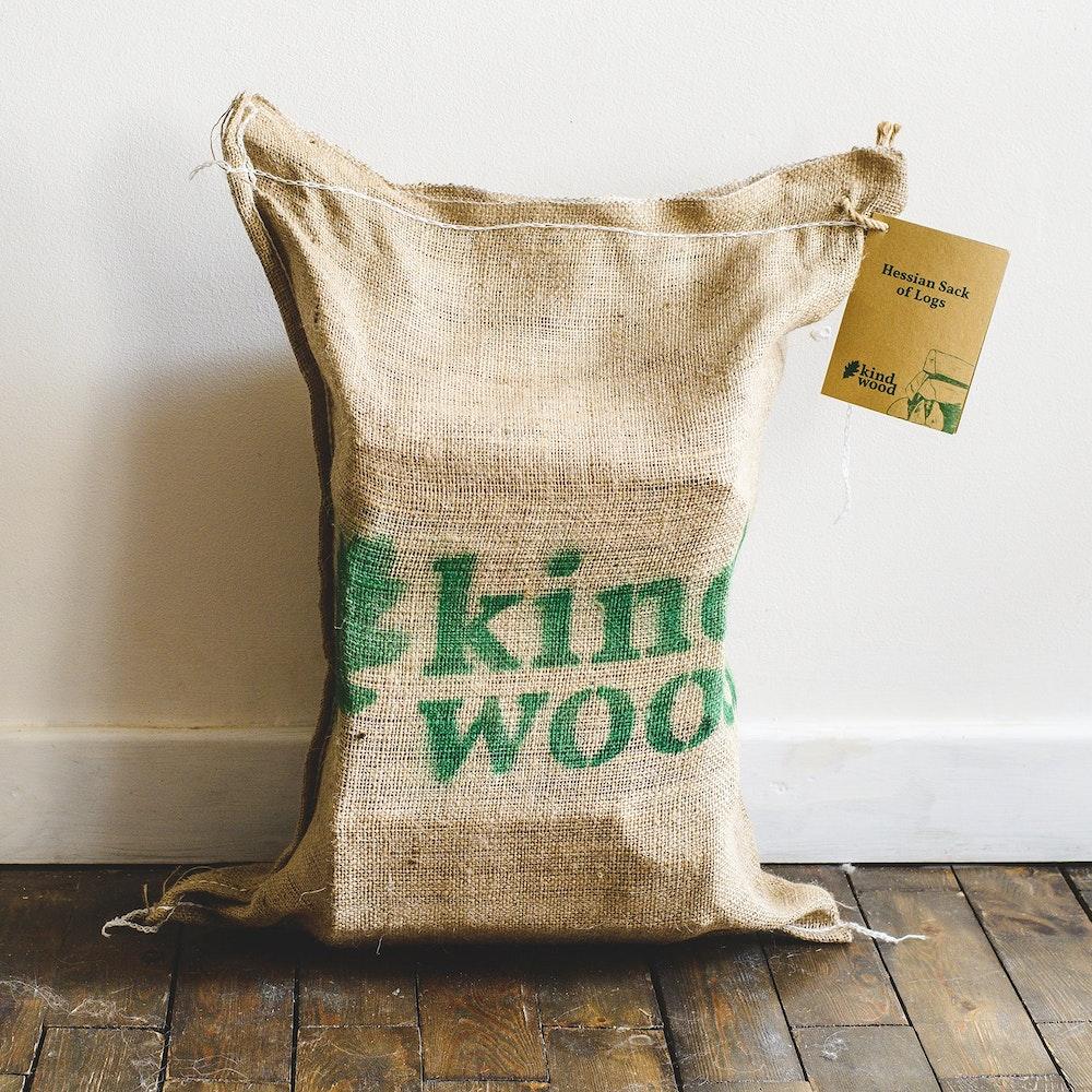 Kindwood Hessian Sack Of Kiln Dried Hardwood Logs