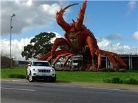 GSA Jeep Larry Laredo meets Larry the Lobster at Kingston SA