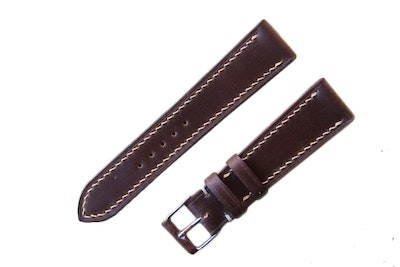 Artisan Straps - Shell Cordovan Leather Strap in Dark Brown