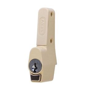 ABUS Sliding Window Push Lock for Sliding Aluminium Windows Vent Lock in Primrose