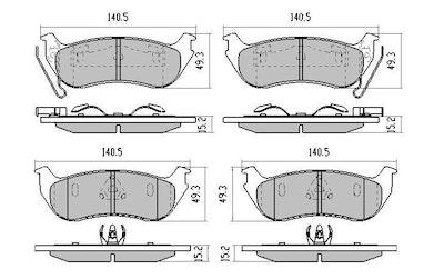 GP MAX FRONT DISC BRAKE PADS for JEEP CHEROKEE KJ 9/2001-2/2008 RDB1937