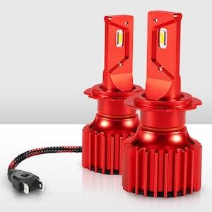 Bunker Indust H7 LED Headlight Kit 50W 8000LM Globe Bulbs White High/Low Beam