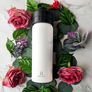 Ecococoon 600ml Drink Bottle - Spill-Free - White Jade