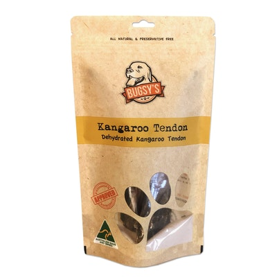 Bugsy's Pet Supplies HEALTHY SNACKS | Hip Hop Dehydrated Kangaroo Tendon