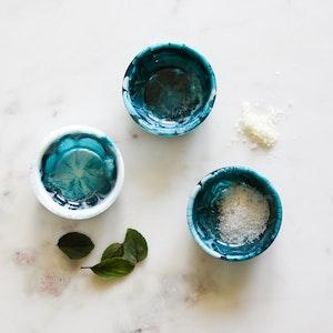 Resin Salt Bowl Set - Deep Ocean