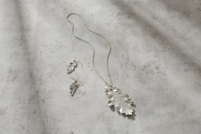 Nessie Jane Designs Natures Song in Oak (Silver by Nature range) Earrings