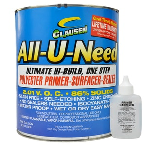 Clausen All-U-Need Polyester Primer 3.8L - Dark Grey