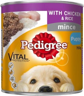 Pedigree Vital Puppy Food Chicken & Rice Mince Original 700g x 12