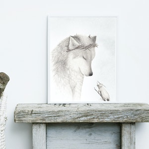 The Winter Wolf Print - A3