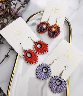 LinqGlo Collections Gift for Her; Handmade Earrings; Beads Earrings; Sarawak/Borneo Handmade Earrings; Beadworks