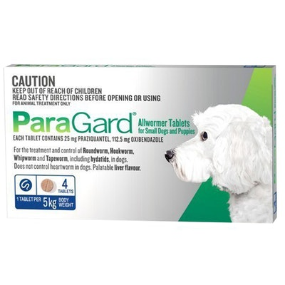 Paragard Small Dogs Allwormer Treatment & Control Tablets 5Kg - 2 Sizes