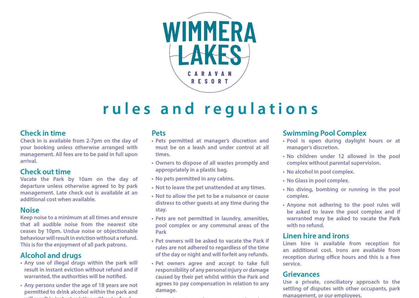 wimmera-rules-and-regulations