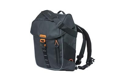 Basil Miles Tarpaulin Backpack Black Orange 17L