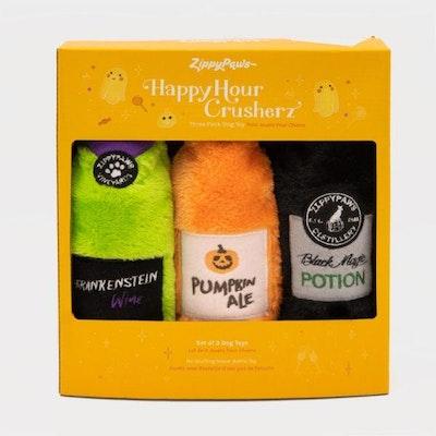 Zippy Paws Happy Hour Crusherz - Halloween Three Pack